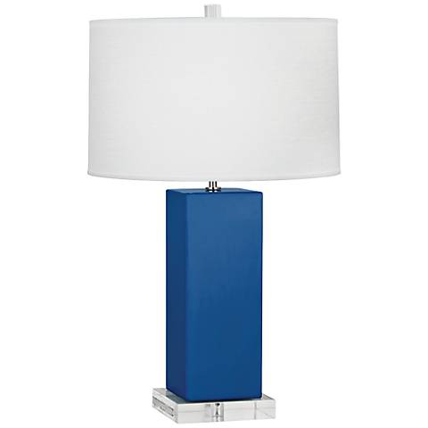 Robert Abbey Harvey Marine Glazed Ceramic Table Lamp