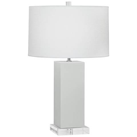 Robert Abbey Harvey Celadon Glazed Ceramic Table Lamp