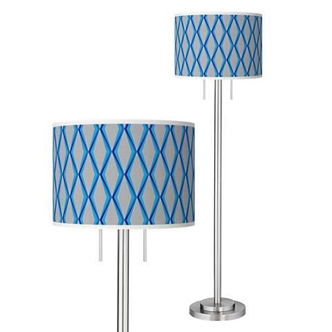 Bleu Matrix Giclee Brushed Nickel Garth Floor Lamp