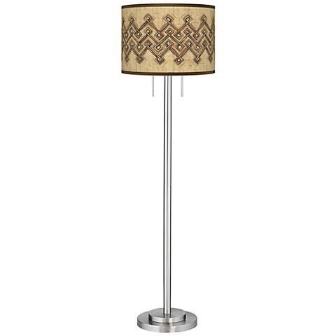 Corinthia Giclee Brushed Nickel Garth Floor Lamp