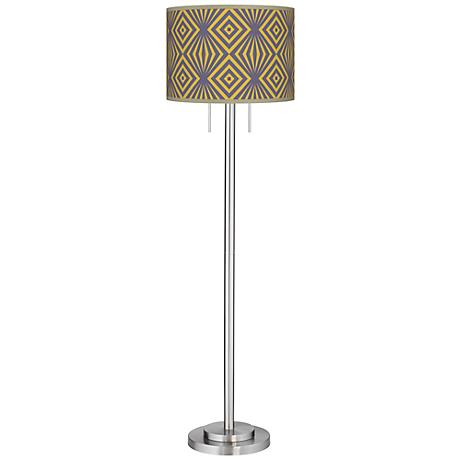 Deco Revival Giclee Brushed Nickel Garth Floor Lamp
