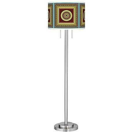 Stacy Garcia Tiber Medallion Garnet Garth Floor Lamp