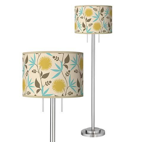 Seedling by thomaspaul Dahlia Brushed Nickel Floor Lamp