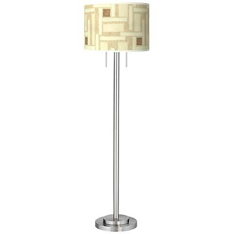 Organic Strands Giclee Brushed Nickel Garth Floor Lamp