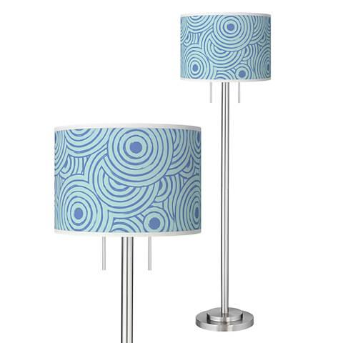 Circle Daze Giclee Brushed Nickel Garth Floor Lamp