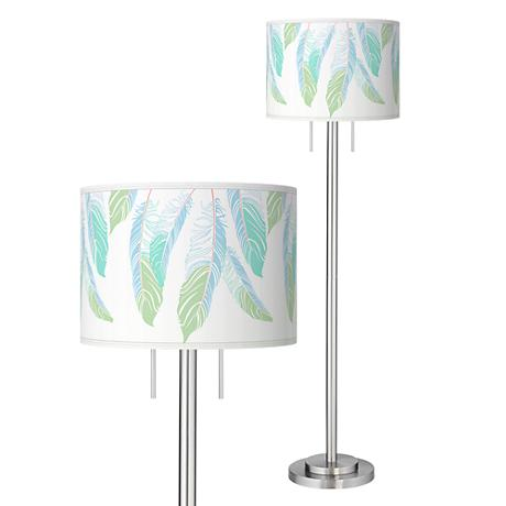 Light as a Feather Giclee Brushed Nickel Garth Floor Lamp