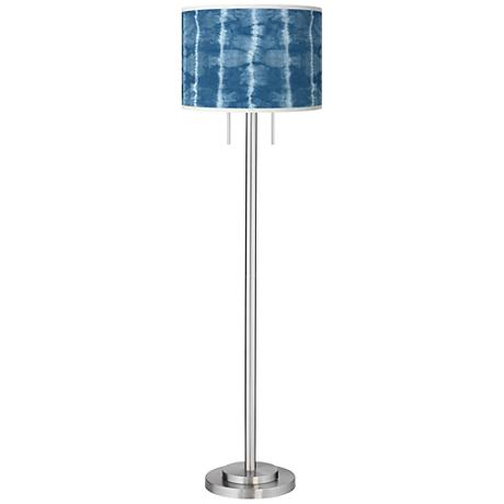 Cool Reflections Giclee Brushed Nickel Garth Floor Lamp