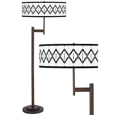 Paved Desert Giclee Parker Light Blaster™ Bronze Floor Lamp