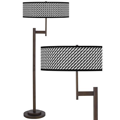 Waves Giclee Parker Light Blaster™ Bronze Floor Lamp