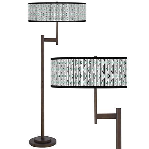 Indigenous Giclee Parker Light Blaster™ Bronze Floor Lamp