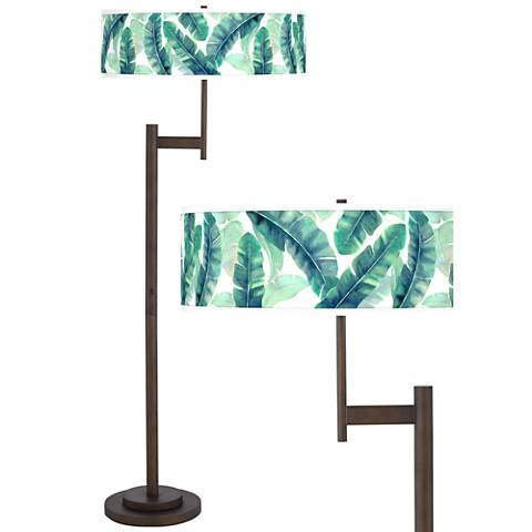 Guinea Giclee Parker Light Blaster™ Bronze Floor Lamp