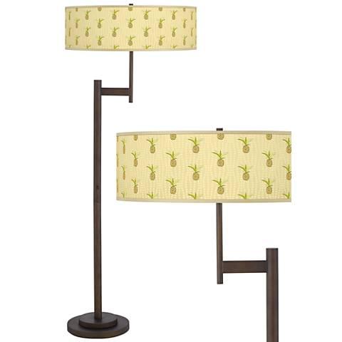 Pineapple Delight Parker Light Blaster Bronze Floor Lamp