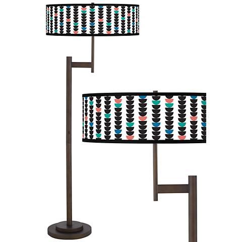 Semi-Dots Giclee Parker Light Blaster™ Bronze Floor Lamp