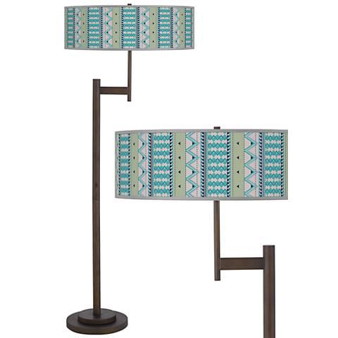 Geo Metrix Giclee Parker Light Blaster™ Bronze Floor Lamp