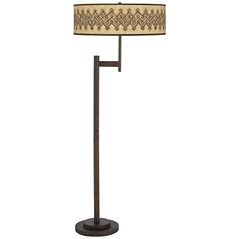 Corinthia Giclee Parker Light Blaster Bronze Floor Lamp