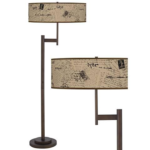 Letters to Paris Linen Parker Light Blaster Floor Lamp