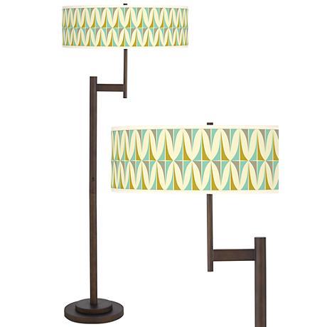 Vernaculis I Parker Light Blaster™ Bronze Floor Lamp