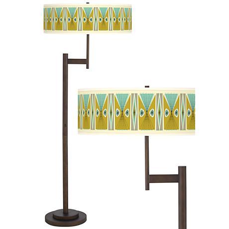 Vernaculis III Parker Light Blaster™ Bronze Floor Lamp
