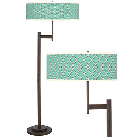 Crossings Giclee Parker Light Blaster™ Bronze Floor Lamp