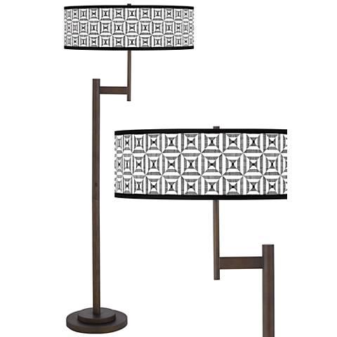 Tile Illusion Parker Light Blaster™ Bronze Floor Lamp