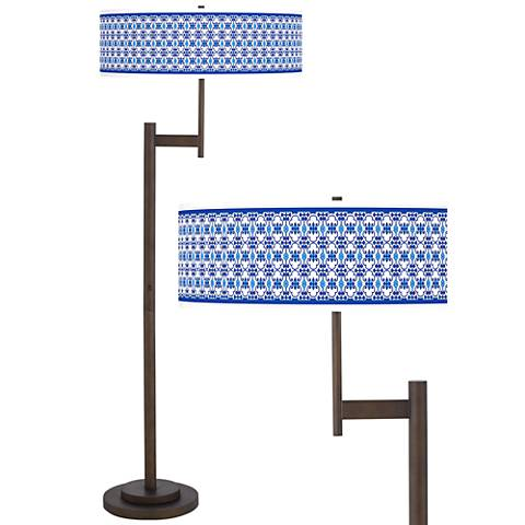 Indigo Path Giclee Parker Light Blaster™ Bronze Floor Lamp