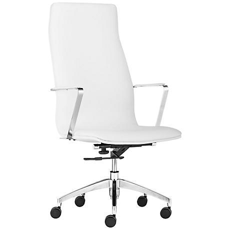 Bernard White High-Back Office Chair
