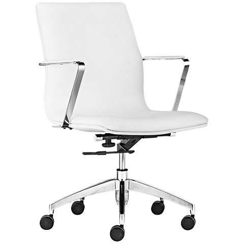 Bernard White Low-Back Office Chair