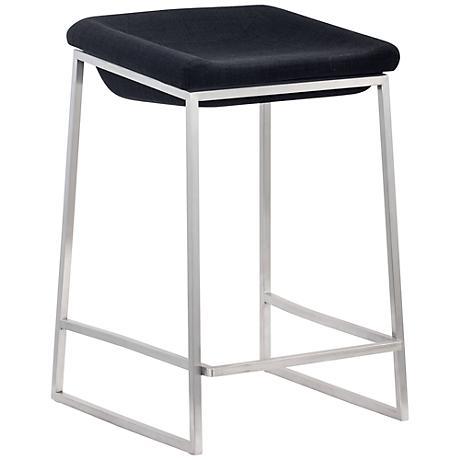 Set of 2 Zuo Lids Dark Gray Counter Chairs