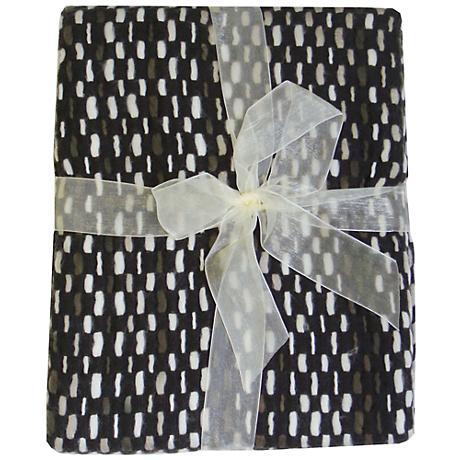 Jewell Brown Basket Weave Throw Blanket