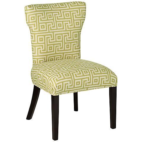 Giadii Green Geometric Pattern Dining Chair