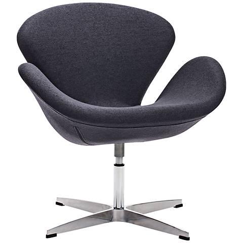 Zuo Pori Iron Gray Arm Chair