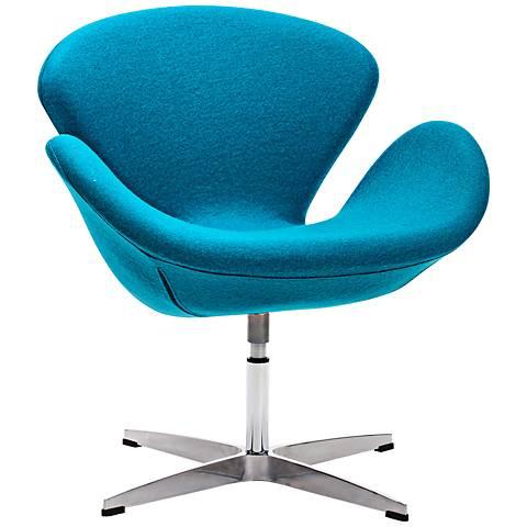 Zuo Pori Island Blue Arm Chair