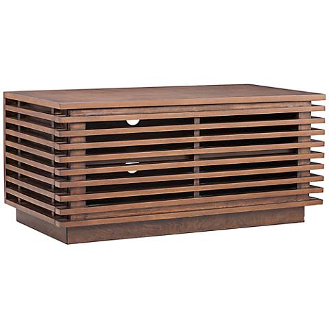 Zuo Linea Walnut Small Entertainment Console