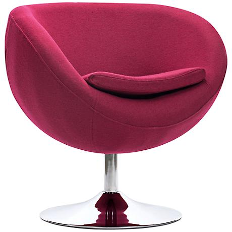 Zuo Lund Carnelian Red Arm Chair