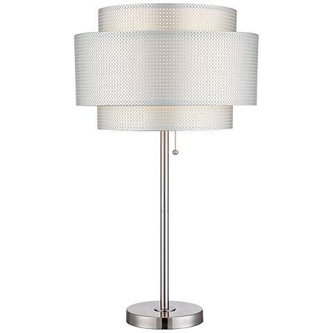 Lite Source Sebille Polished Steel Modern Table Lamp