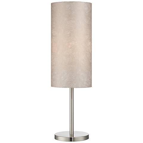 Lite Source Secia Polished Steel Modern Table Lamp