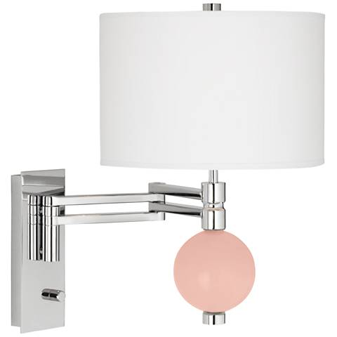 Rose Pink Niko Swing Arm Wall Lamp