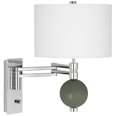 Deep Lichen Green Niko Swing Arm Wall Lamp