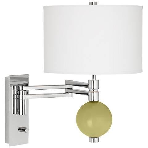 Linden Green Niko Swing Arm Wall Lamp