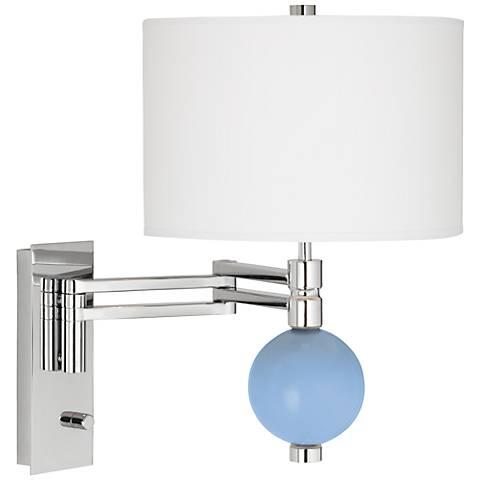 Placid Blue Niko Swing Arm Wall Lamp