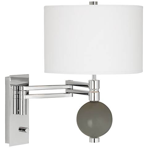 Gauntlet Gray Niko Swing Arm Wall Lamp