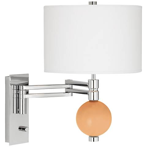 Soft Apricot Niko Swing Arm Wall Lamp