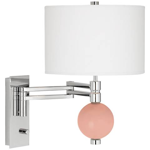 Mellow Coral Niko Swing Arm Wall Lamp