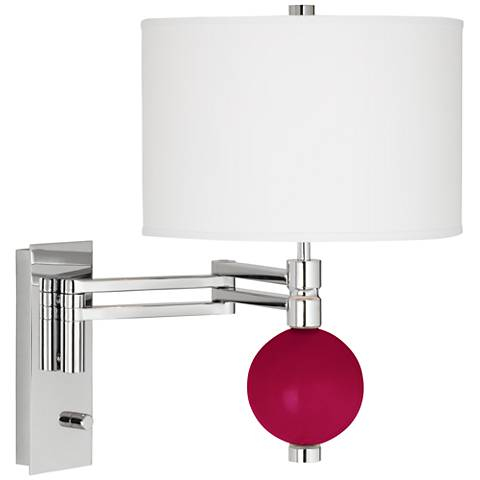 French Burgundy Niko Swing Arm Wall Lamp