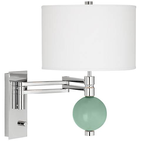 Grayed Jade Niko Swing Arm Wall Lamp