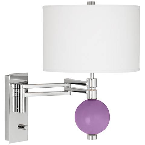 African Violet Niko Swing Arm Wall Lamp