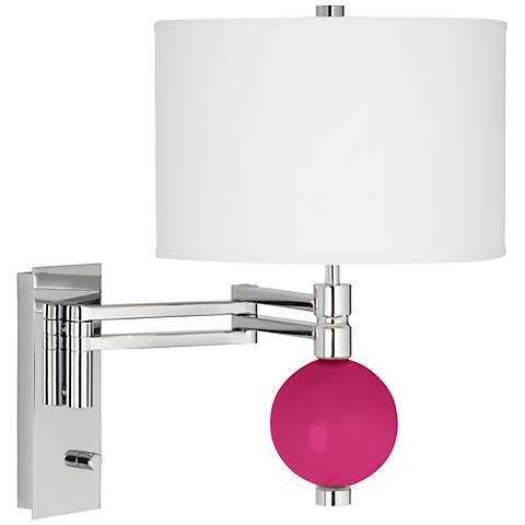 Beetroot Purple Niko Swing Arm Wall Lamp