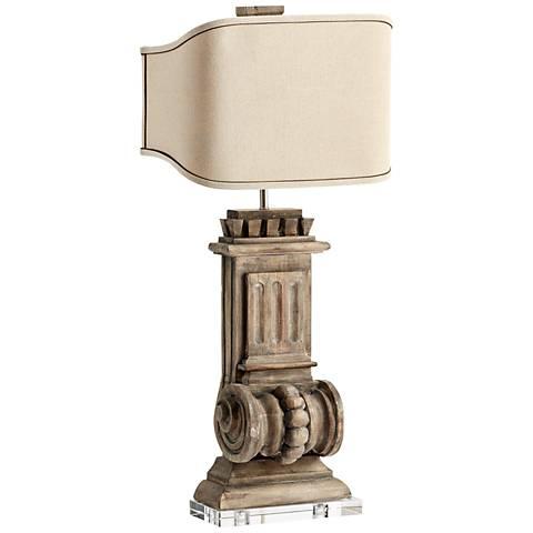 Loft Limed Gracewood Large Rustic Table Lamp