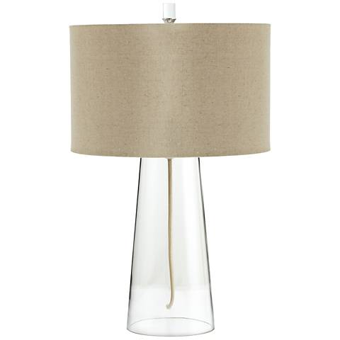 Wonder Clear Glass Modern Table Lamp