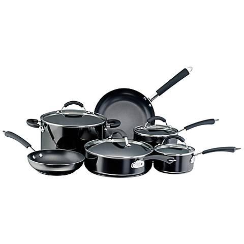 Farberware Millennium Black Porcelain 12-Pc Cookware Set